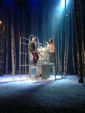 Oskar and Eli on stage at Dundee Rep
