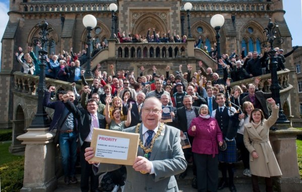 Happy Flashmob supporting City of Culture bid